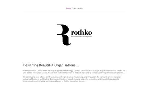 Screenshot of Home Page rothkobusinessgrowth.com - Delivering value and growth - Rothko Business Growth Management, strategy implementation consultancy: business model innovation, leadership and performance management - captured Aug. 14, 2015