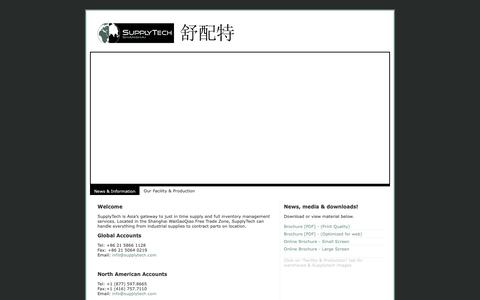 Screenshot of Home Page supplytech.com - Supplytech | Specialist in Vendor Managed Inventory Programs - captured Oct. 19, 2018