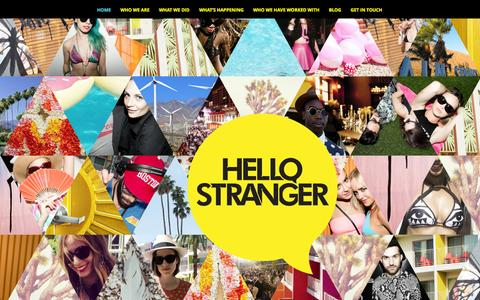Screenshot of Home Page hellostrangercreative.com - HELLO STRANGER | - captured Sept. 30, 2014