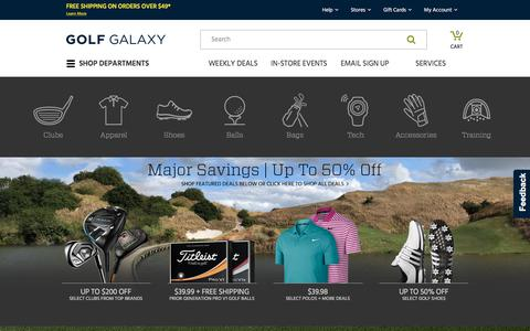 Screenshot of Home Page golfgalaxy.com - Golf Galaxy - Official Website - captured July 16, 2019