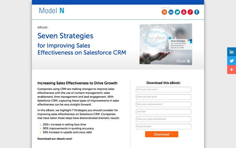 eBook : Seven Strategies for Improving Sales Effectiveness on Salesforce CRM