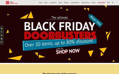 Screenshot of Home Page mac-warehouse.com - Mac-Warehouse   Official Website - captured Nov. 20, 2018