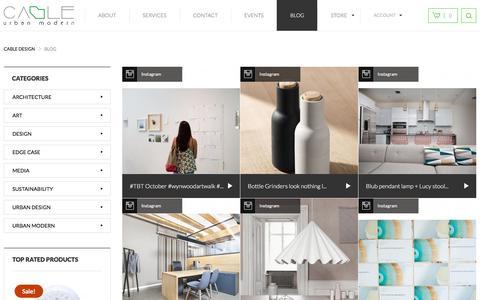 Screenshot of Blog cableisdesign.com - Blog   CABLE DESIGN - captured Jan. 23, 2016