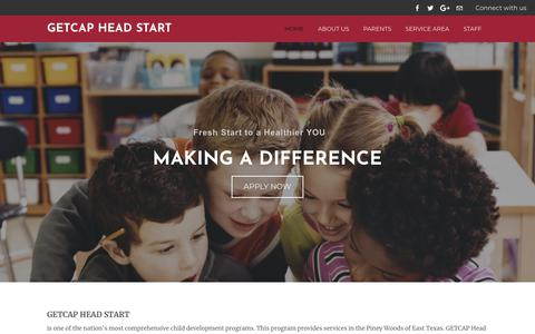 Screenshot of Home Page headstart-getcap.org - GETCAP Head Start - Home - captured Sept. 25, 2018