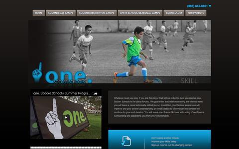 Screenshot of Home Page onesoccerschools.com - One Soccer Schools - captured June 12, 2017