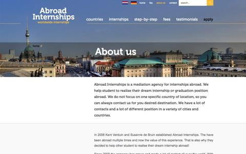 Screenshot of About Page abroad-internships.com - Abroad Internships| Abroad Internships - captured Sept. 30, 2014