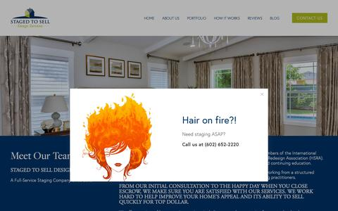 Screenshot of About Page stagedtoselldesign.com - About Us — STAGED TO SELL - captured March 23, 2019