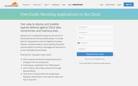Securing Applications in the Cloud | Cloudflare