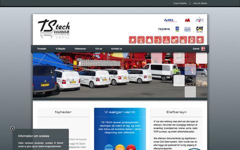 Screenshot of Home Page tstech.dk - TS TECH - captured Feb. 16, 2016