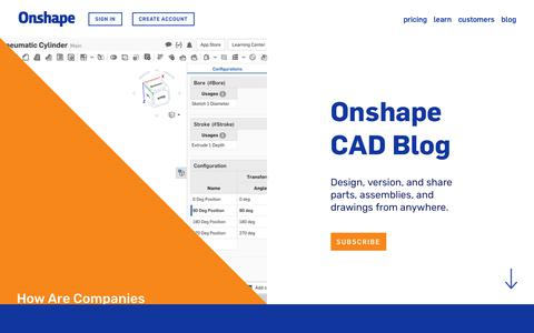 Screenshot of Blog onshape.com - Onshape CAD Blog - captured Feb. 27, 2018