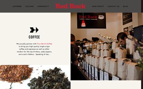 Screenshot of Menu Page redrockcoffee.org - Menu — Red Rock - captured Dec. 18, 2016
