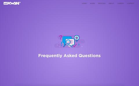 Screenshot of FAQ Page unikwan.com - FAQ | UniKwan - captured July 27, 2018