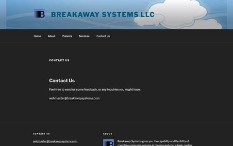 Screenshot of Contact Page breakawaysystems.com - Contact Us – Breakaway Systems LLC - captured Nov. 6, 2018