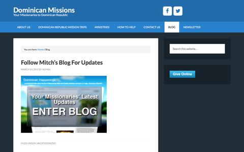 Screenshot of Blog dominicanmissions.org - Blog - Dominican Missions - captured Nov. 28, 2016