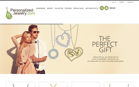 Screenshot of Home Page personalized-jewelry.com - Personalized Jewelry - captured April 10, 2017