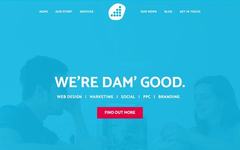 Screenshot of Home Page damteq.co.uk - Damteq | Website Design and Marketing Agency in Hampshire. - captured Sept. 20, 2016