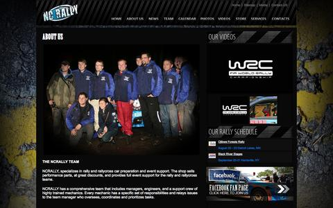 Screenshot of About Page ncrally.com - About Us | NCRALLY - captured Oct. 26, 2014