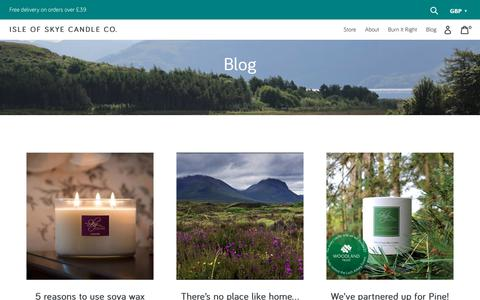 Screenshot of Press Page skyecandles.co.uk - News – Isle of Skye Candle Company - captured Nov. 14, 2018