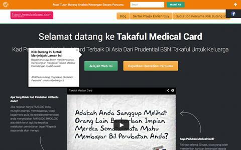 Screenshot of Home Page takafulmedicalcard.com - Takaful Medical Card & Kad Perubatan Takaful | Prudential BSN Takaful - captured Oct. 6, 2014