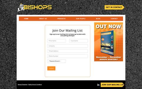 Screenshot of Signup Page bishopbros.com.pg - bishops | Sign Up - captured Dec. 18, 2018