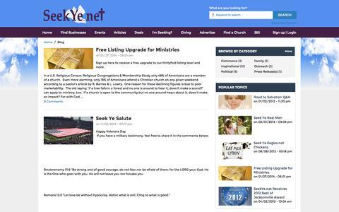 Screenshot of Blog seekye.net - Blog Home - captured Oct. 6, 2014