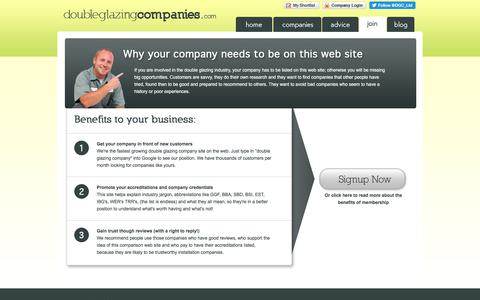 Screenshot of Signup Page doubleglazingcompanies.com - Double Glazing Help - Double Glazing Companies - captured Oct. 13, 2017