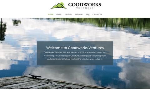 Screenshot of Home Page goodworksventures.com captured May 21, 2017