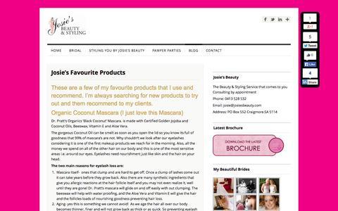 Screenshot of Press Page josiesbeauty.com - Blog by Josie's Beauty   Josies Beauty - captured Sept. 30, 2014
