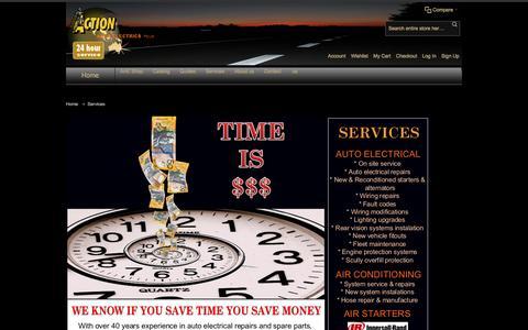 Screenshot of Services Page actionauto.com.au - Services - captured Nov. 20, 2016