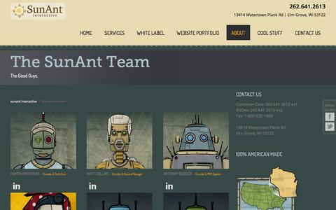 Screenshot of Team Page sunant.com - Meet The SunAnt Team: Milwaukee Website Developers | SunAnt - captured Nov. 3, 2014