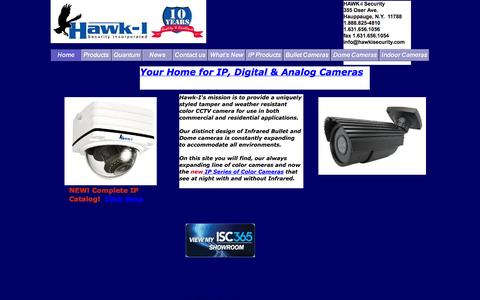 Screenshot of Home Page hawkisecurity.com - hawkisecurity.com Your source for Weatherproof and Tamperproof Color Security Cameras - captured Sept. 26, 2014