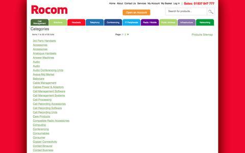 Screenshot of Site Map Page rocom.co.uk - Rocom - captured Sept. 21, 2018