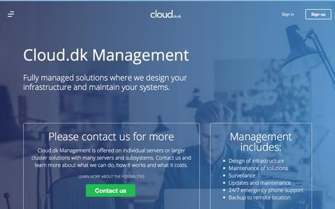 Screenshot of Team Page cloud.dk - Management • Let us manage your Cloud Servers • Cloud.dk - captured Aug. 6, 2017