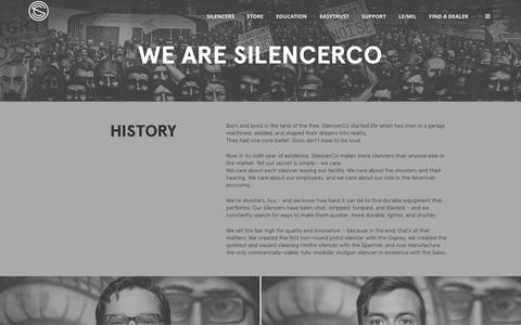 Screenshot of About Page silencerco.com - About - SilencerCo - captured April 2, 2016