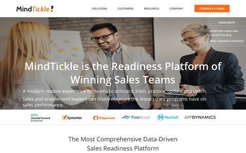 MindTickle: Sales readiness and sales enablement platform
