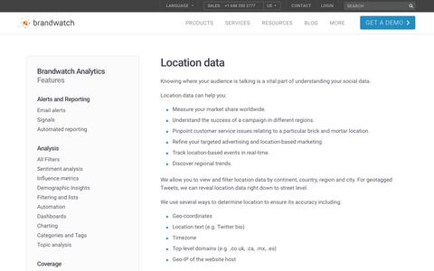 Location data | Brandwatch