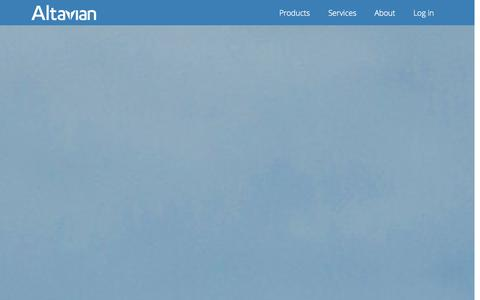 Screenshot of Home Page altavian.com - Home - Altavian - captured Sept. 13, 2014