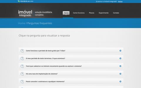 Screenshot of FAQ Page imovelintegrado.com.br - Software para imobiliárias | Softwares para imobiliárias | Softwares para corretores - Imovel Integrado, Sistema de gerenciamento imobiliario com site integrado - captured Feb. 15, 2018