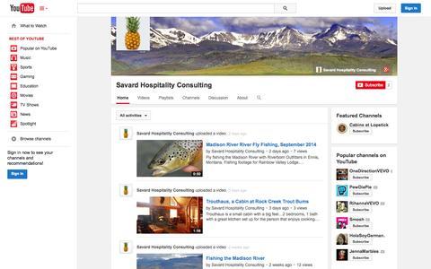 Screenshot of YouTube Page youtube.com - Savard Hospitality Consulting  - YouTube - captured Oct. 23, 2014