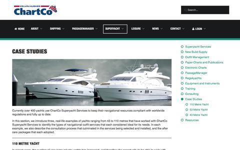 Screenshot of Case Studies Page chartco.com - Case Studies | Superyacht Services | ChartCo - captured Dec. 8, 2015