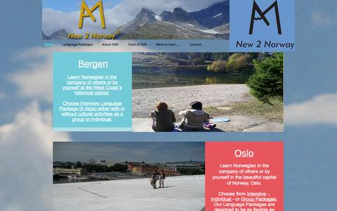 Screenshot of Home Page new2norway.com - Home - new2norway.com - captured Oct. 7, 2014