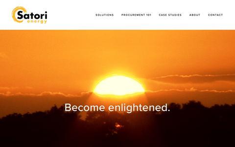 Screenshot of Home Page satorienergy.com - Satori Energy - captured Nov. 6, 2018