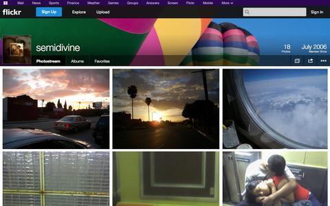 Screenshot of Flickr Page flickr.com - Flickr: semidivine's Photostream - captured Oct. 29, 2014