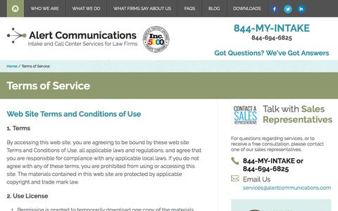Terms of Service | Alert Communications
