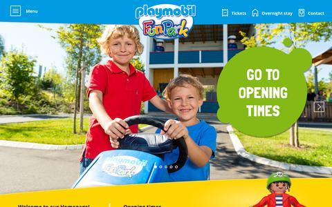 Screenshot of Home Page playmobil-funpark.de - Home Playmobil FunPark - captured Oct. 2, 2018
