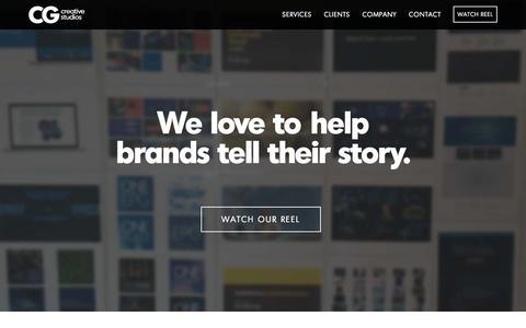 Screenshot of Home Page cgcreative.com - CG Creative Studios | San Diego creative agency for event management, video production, digital & presentations - captured Dec. 5, 2015