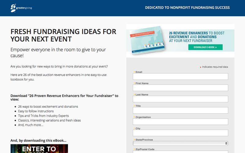 Fundraising Auction Revenue Enhancers