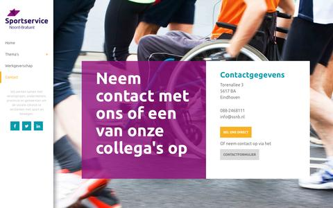 Screenshot of Contact Page ssnb.nl - Contact - captured Jan. 24, 2017