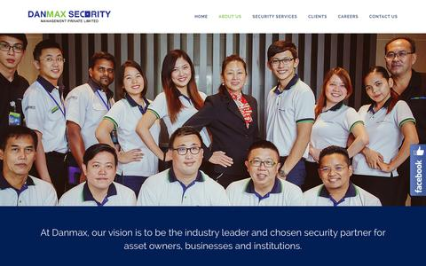 Screenshot of About Page danmax.com.sg - About Us – Danmax Security Management Private Limited - captured Feb. 8, 2016