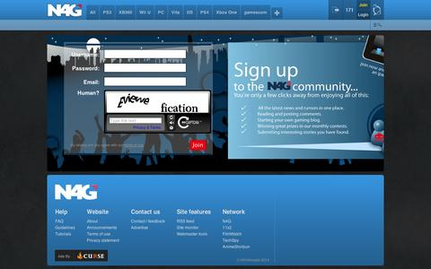 Screenshot of Signup Page n4g.com - Join | N4G - captured Sept. 12, 2014